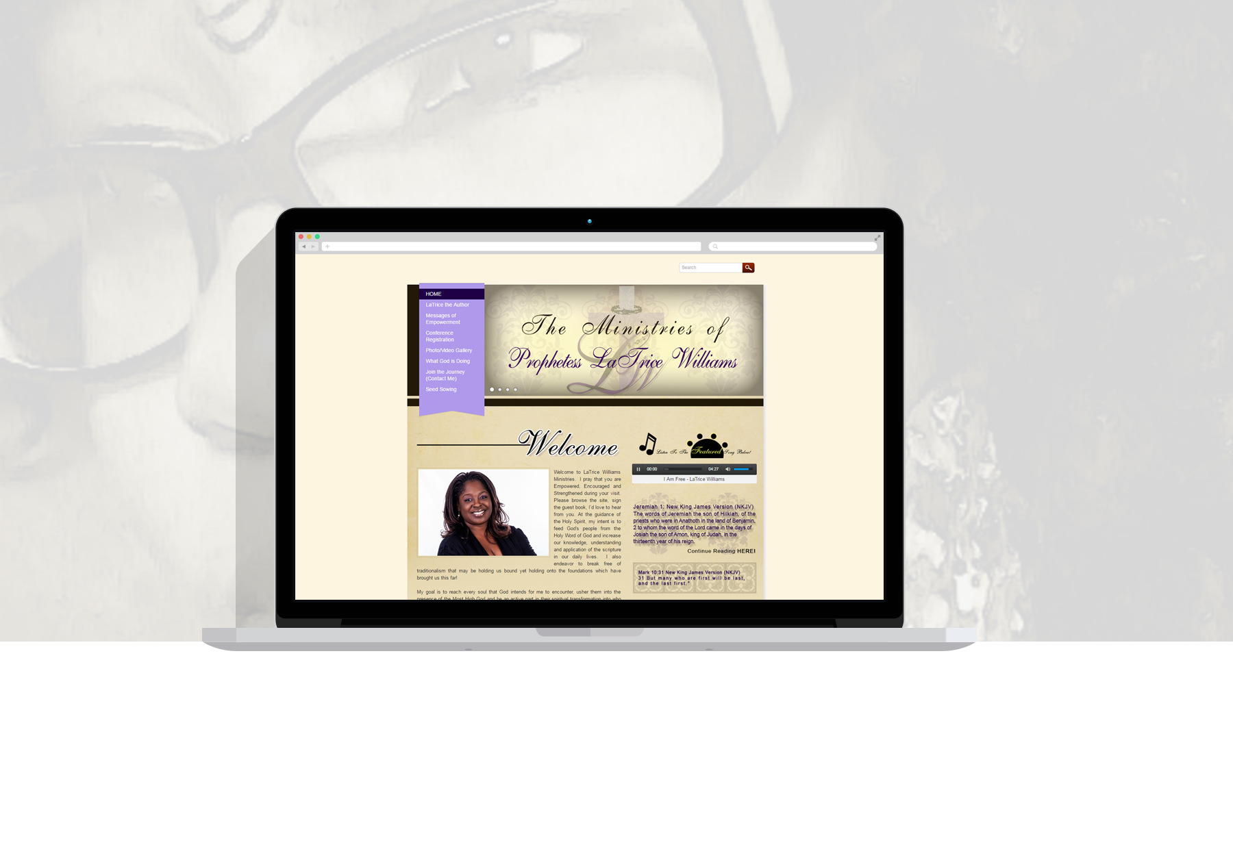 LaTriceWilliamsMinistry-WebsiteDesign